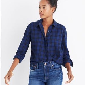 Madewell Wrap-Front shirt in Orion Plaid